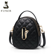 Golden Fox slanting small round bag 2019 female new style rhombus Fashion Lady Bag Mini Handbag Shoulder Bag