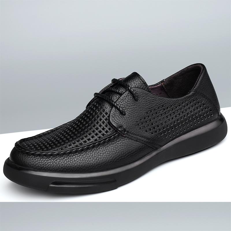 点击查看商品:2020夏季新款镂空男透气凉鞋柔软头层牛皮商务休闲皮鞋系带男鞋子