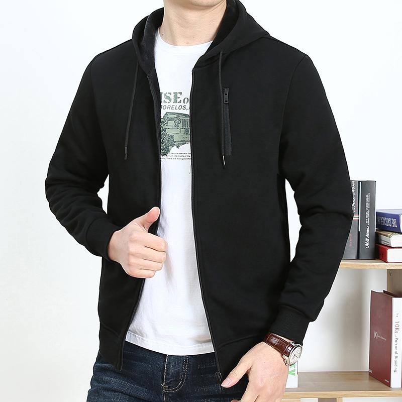 吉普盾男装春秋季卫衣男连帽开衫上衣服男士运动卫衣宽松休闲外套