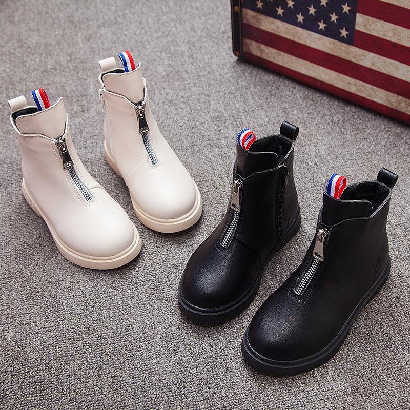 女童短靴2018新款韩版冬季儿童马丁靴子加绒小孩女棉鞋中大童学生