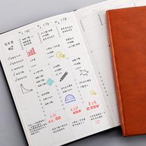 2021年日程本周计划本时间管理效率手册简约手账本大学生考研自律打卡本每日计划表日历记事本时间轴笔记本子