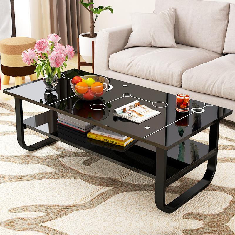亿家达 简易茶几现代简约 客厅茶桌小户型茶台餐桌两用长方形桌子
