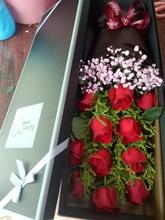 青岛鲜花店同城送女神母亲七li10情的节bu告白礼物红玫瑰花束