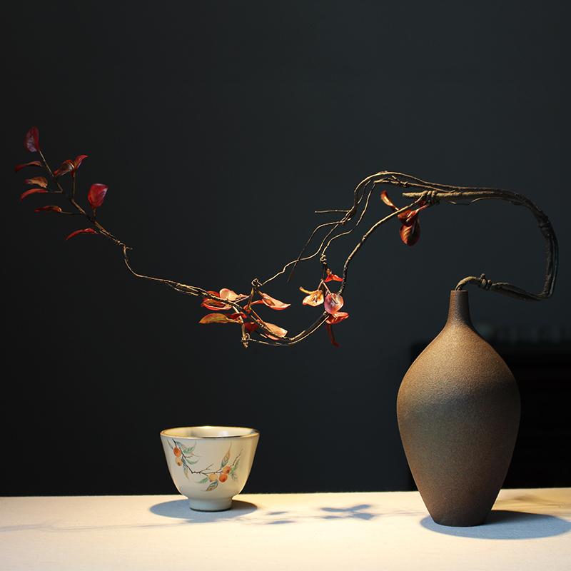 创意简约手工日式禅意花瓶客厅书房摆件装饰插花干花花瓶玄关摆件