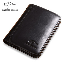 Real Australian kangaroo men's wallet short leather vertical top leather youth student trend driving card bag wallet
