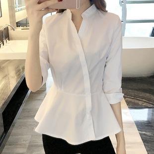 衬衫女装2019新款上衣衬衣心机时尚气质超仙女范设计感小众v洋气