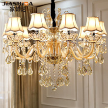 European style chandelier crystal lamp modern living room lamp 2018 new creative personality bedroom simple atmosphere restaurant lighting