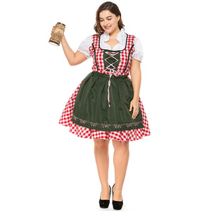 Fat mm XL Maid Maid Outfit Beer Beer Halloween Lady Bar Waiter Work Uniform