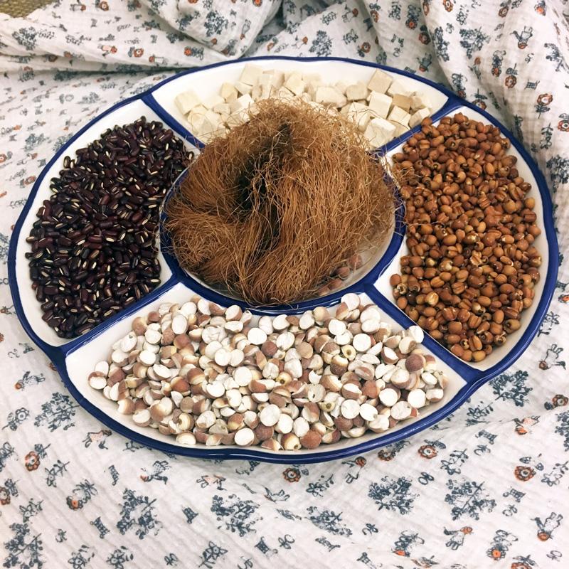 红薏米芡实茶赤小豆茶茯苓山楂玉米须茶湿气茶消水肿除湿茶养生茶