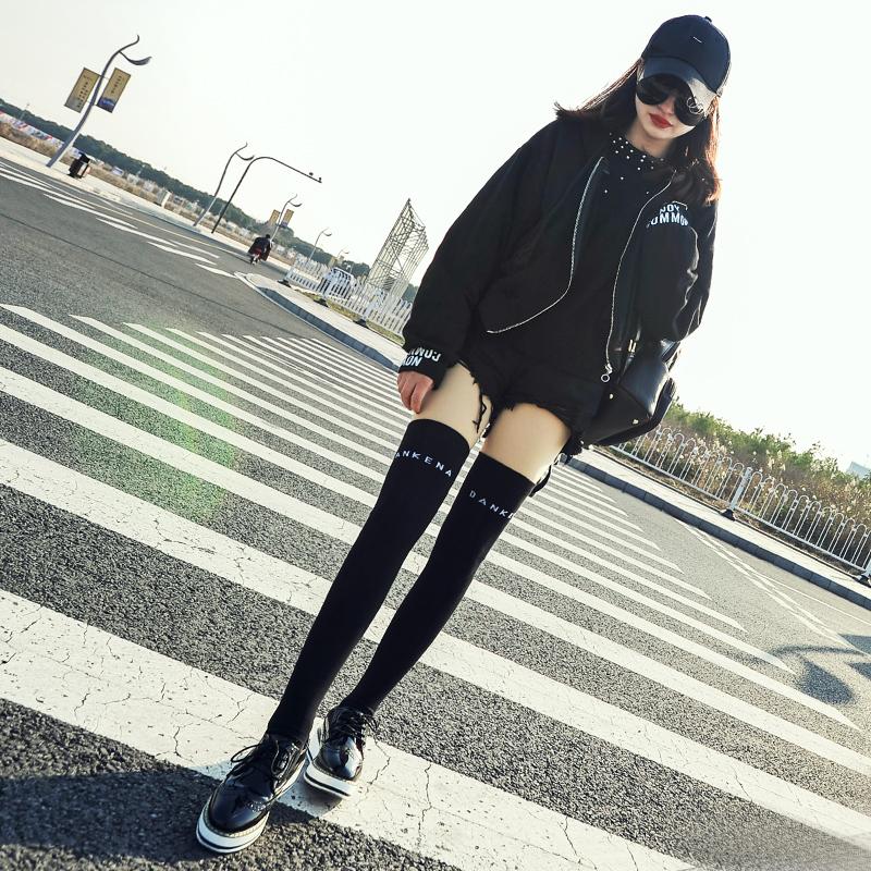长筒袜女过膝秋冬韩国学院风瘦腿袜棉套长袜子女韩版过膝袜女日系