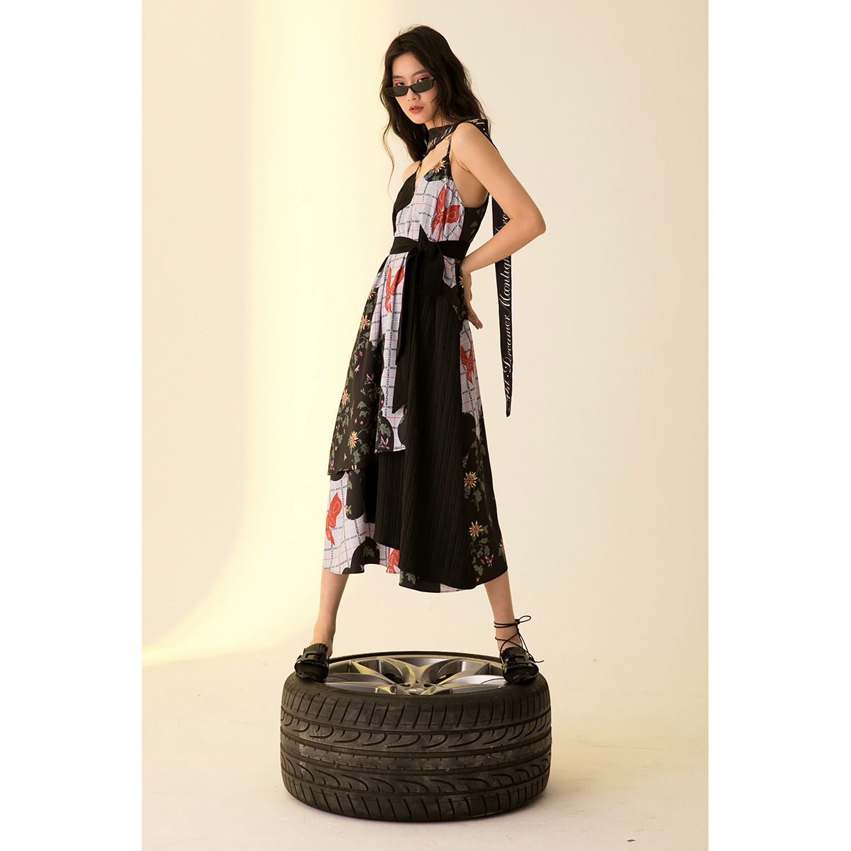 Moonlight Dreamer 18SS 原创独立设计|撞色印花 拼接连衣裙