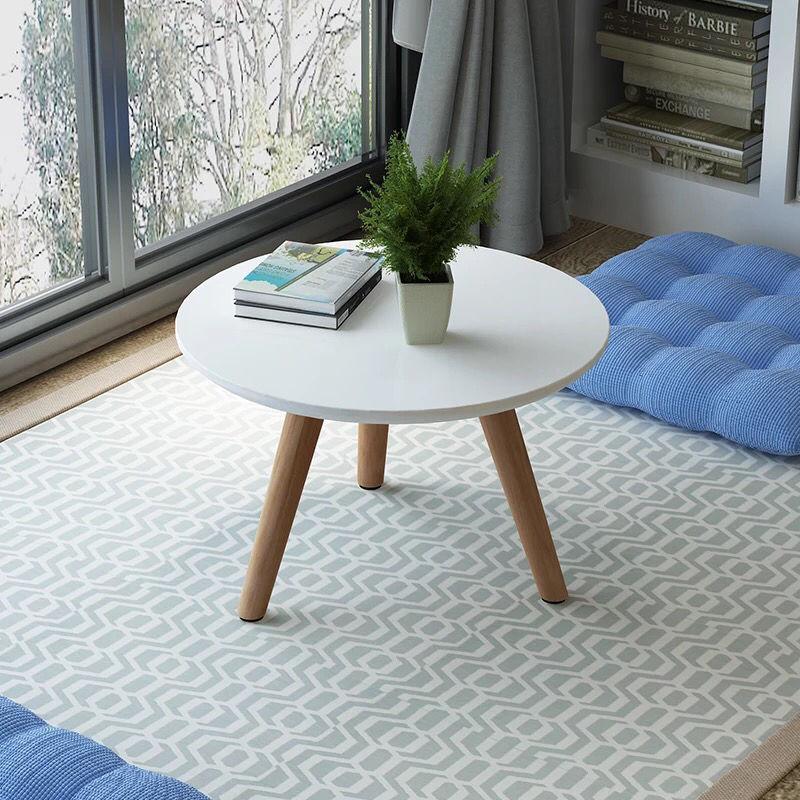 飘窗小圆桌子榻榻米茶几简约小茶几日式窗台地台桌矮桌实木腿炕桌