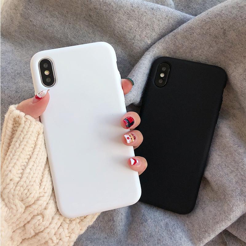 纯白黑色小米CC9/8青春手机壳软硅胶se探索版MIX3/2s磨砂简约6X女