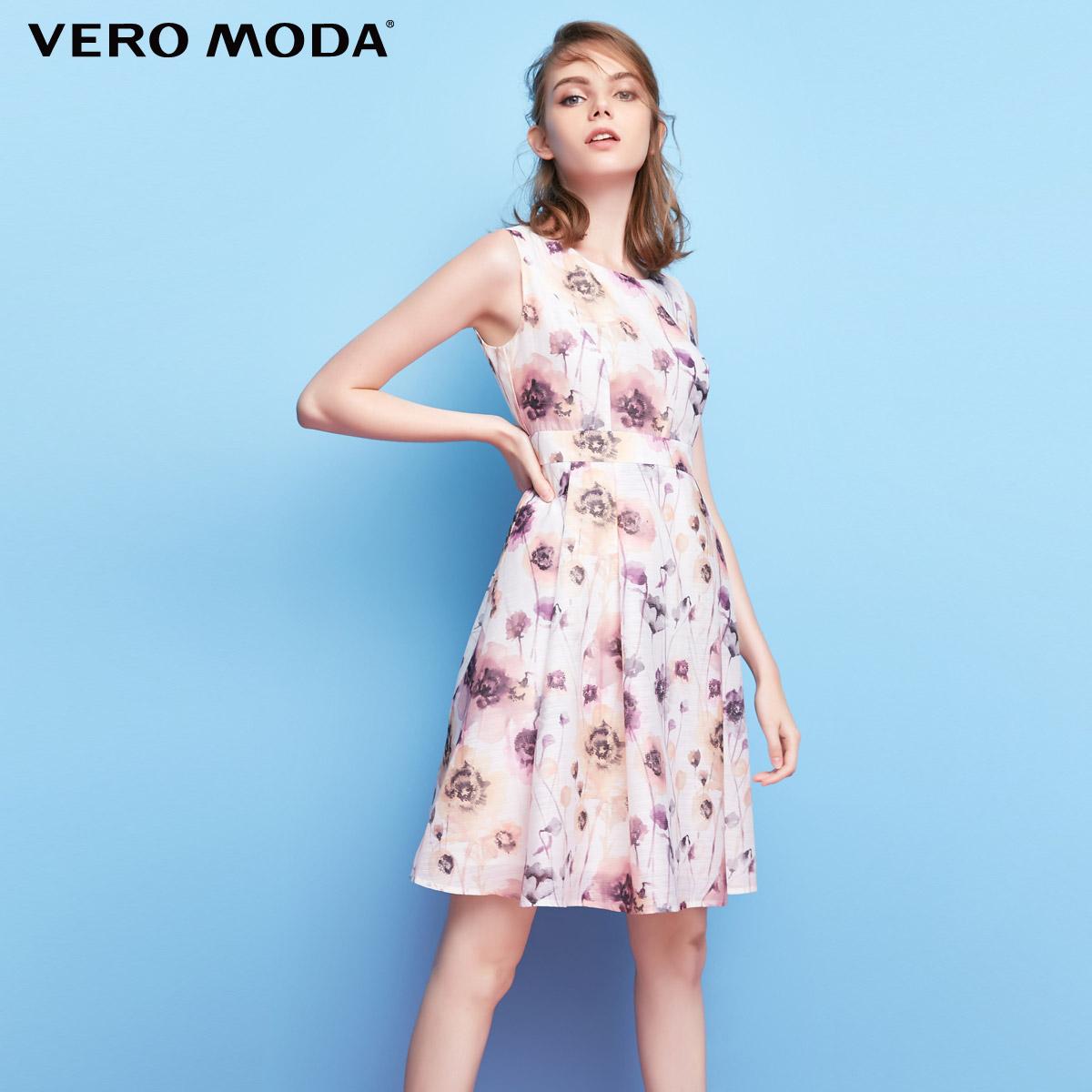 Vero Moda新品个性印花设计A摆连衣裙 31727A526