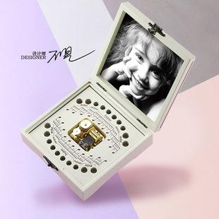 原创音乐儿童乳牙盒纪念盒宝宝乳牙收纳盒乳牙收藏盒纪念品