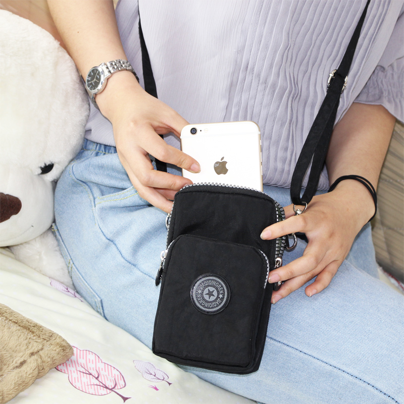 2018新款韩版手机包女斜挎包手机袋挂脖手腕装零钱包迷你小包包竖