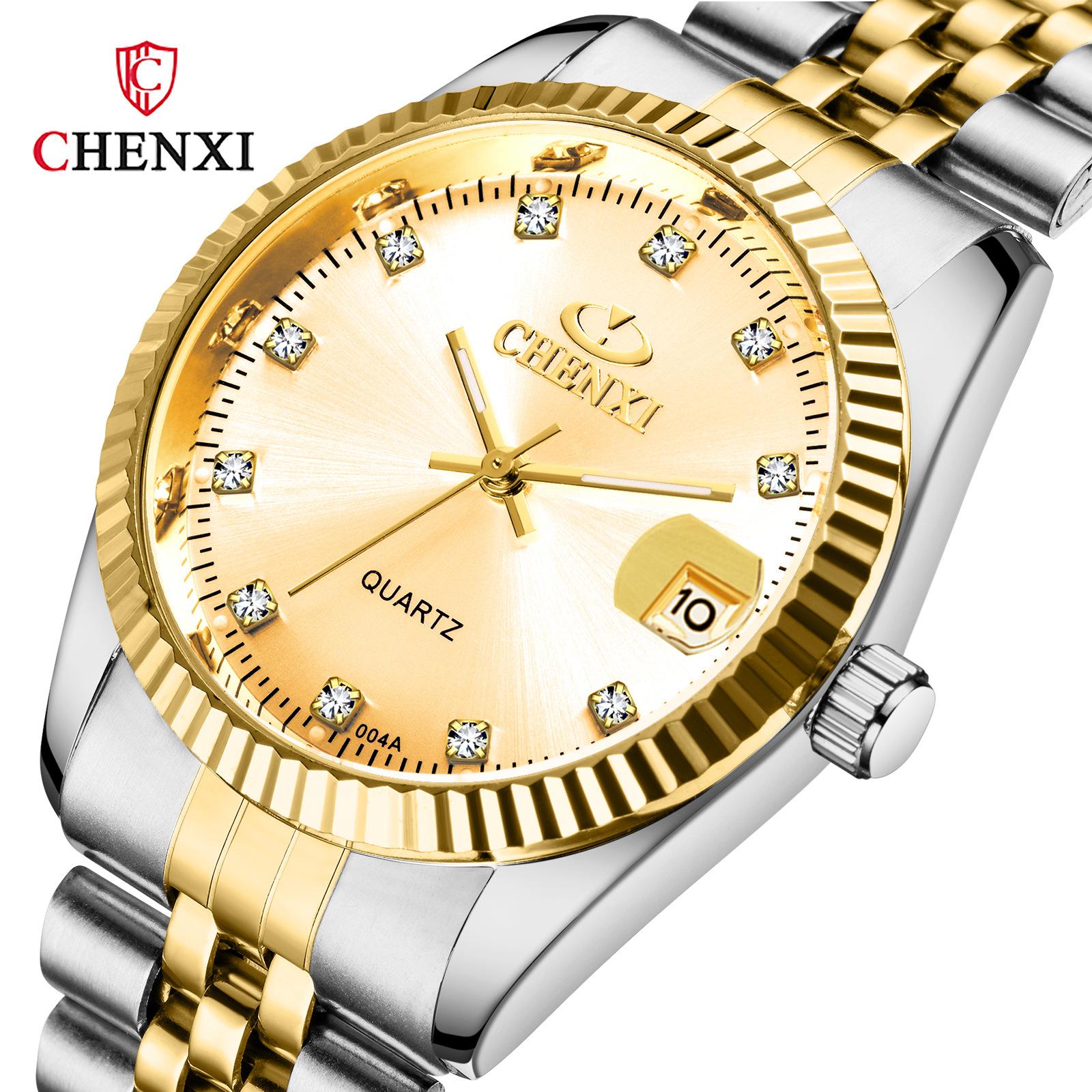 新款 CHENXI品牌商务情侣对表男士流行watch for women跨境手表