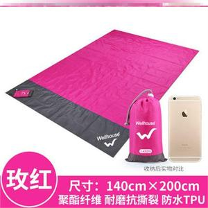 Equipped with insect-proof camping solid color supplies large cushion summer folding pocket picnic mat mini outdoor