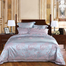 More Love Jacquard Suite Continental Palace Bed Sheet Set Home Textiles Bedding Set of 4 Luo Wei Glossy