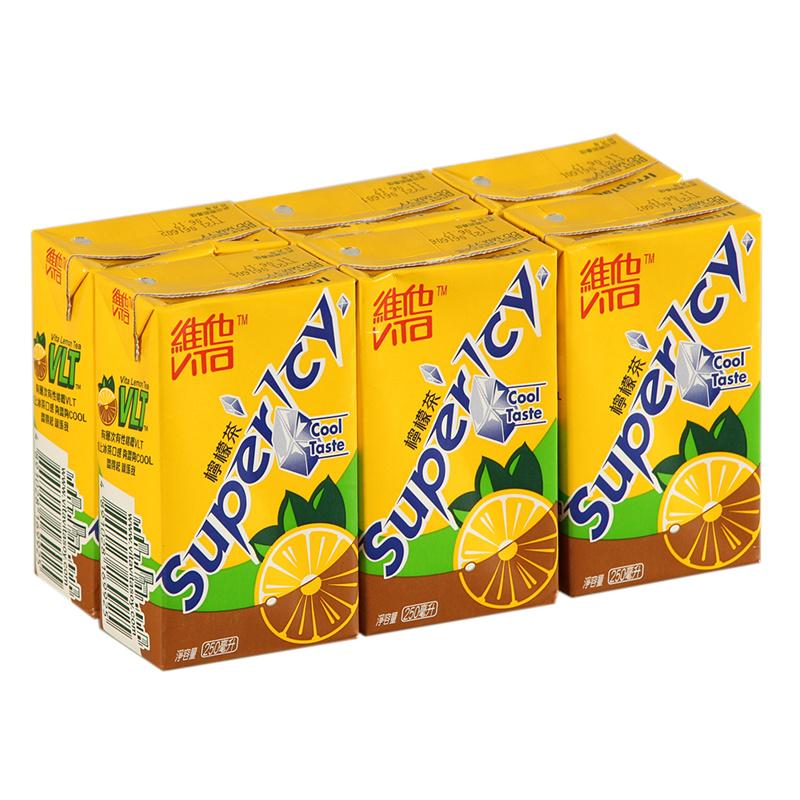香港进口饮料 维他Vita Superlcy冰激柠檬茶柠檬茶饮料250ml*6盒