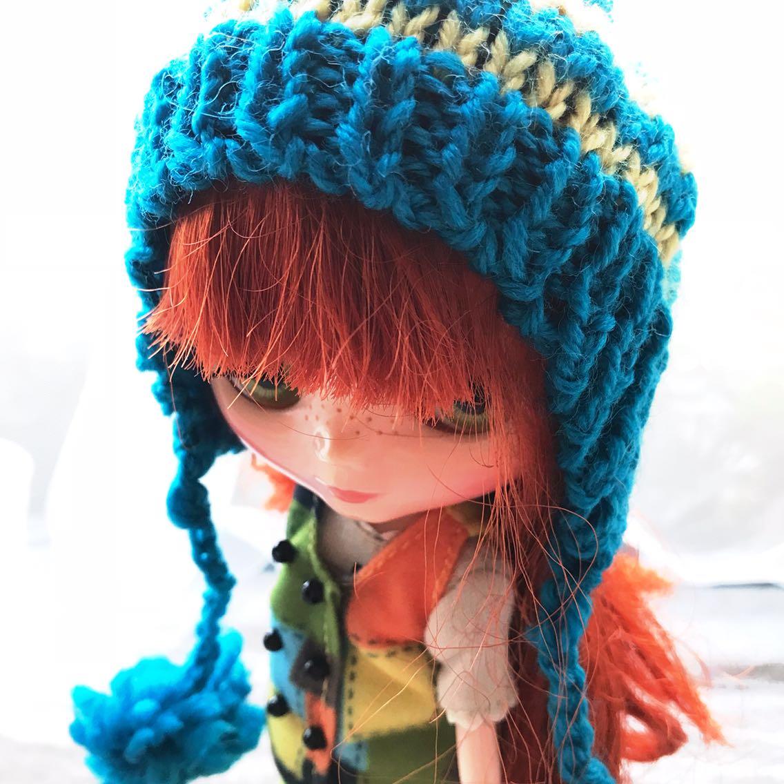 BJD娃娃专区球型关节人偶6分sd 娃blythe小布儿娃服饰手织毛线帽