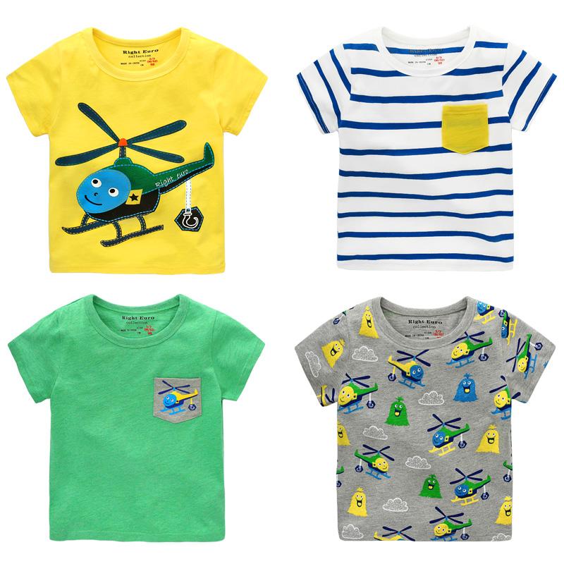 男童短袖T恤 2018夏装新款童装女童小童儿童 宝宝打底衫上衣U8385