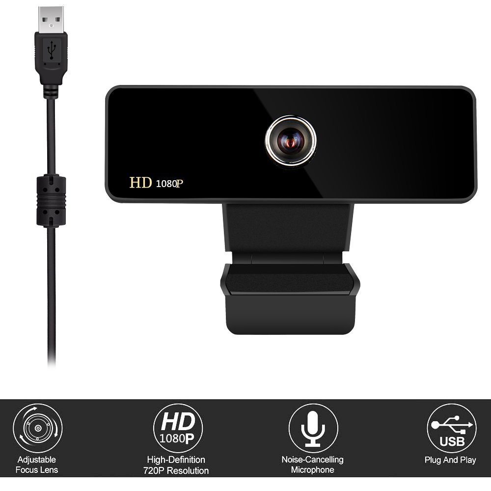 高清摄像头安之家1080P免驱夹子电脑摄像头内置数字MIC电视专用