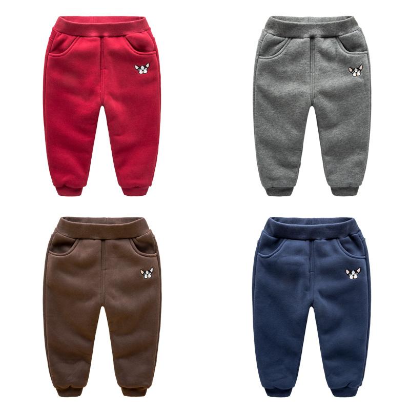 男童裤子宝宝加厚可开裆运动裤保暖婴儿童装冬装儿童加绒棉裤女童