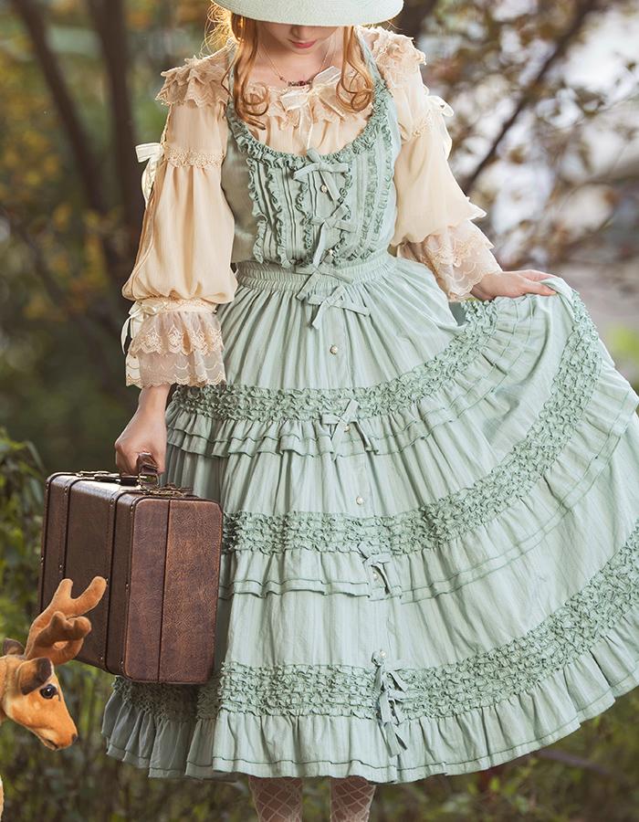 BOGUTA LOLITA 海蒂系列-合作款- 森系JSK背带裙 现货