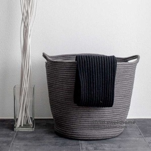 Extra large cotton dirty clothes basket storage basket woven fabric sundries box clothes toys finishing box laundry basket dirty clothes bucket