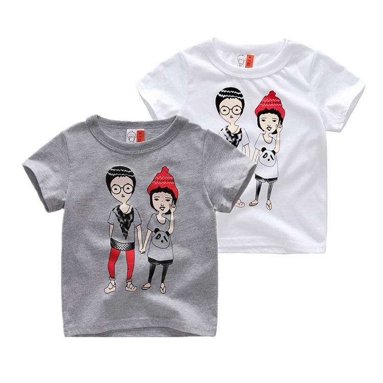 夏季童装2018新款儿童短袖T恤男童女童纯棉卡通短袖上衣宝宝潮