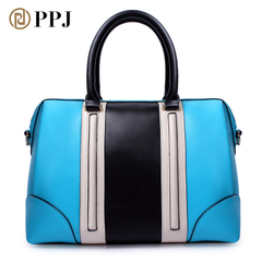 Fat cobbler bag 2015 new surge in spring and summer handbag pattern leather Europe hit the color with the bag blue-red