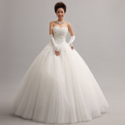 Honey because the new sequined Princess lace wedding dress wedding dresses wedding dress the bride Korean wedding dresses wedding yarn-