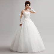 2015 new Korean Princess wedding dresses fashion Qi Crystal organza flounces bride wedding dresses at the waist look slimmer