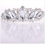 New Bridal jewelry Crown glass diamond Crown tiara Bridal Accessories-