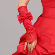 Scarlet red mittens gloves, Wedding Dresses Bridal Accessories products-