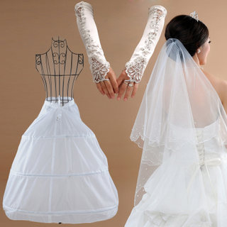 Honey made in 2015, new style wedding dress brace dress veil gloves Bridal Accessories package SJT002