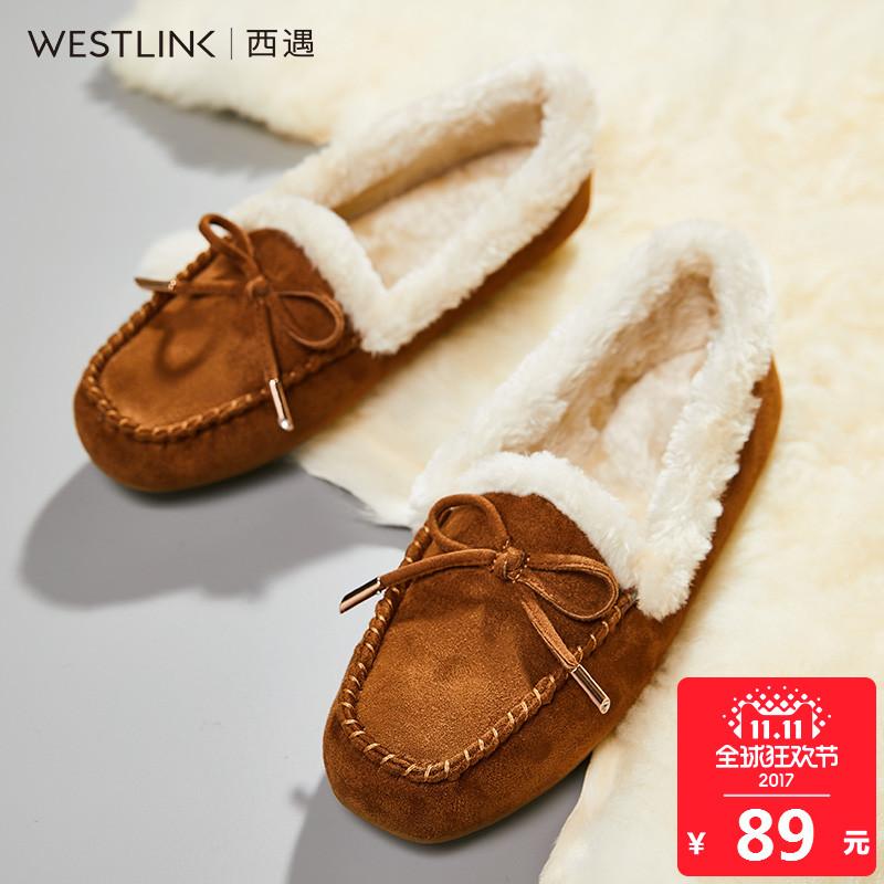 豆豆 冬季 平底 保暖 可爱 雪地 新款 短靴 面包