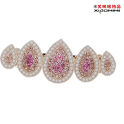Smiling sophisticated five drops of encrusted Korea top clips side clips hair accessories hair clip hairpin rhinestone hair accessories girls