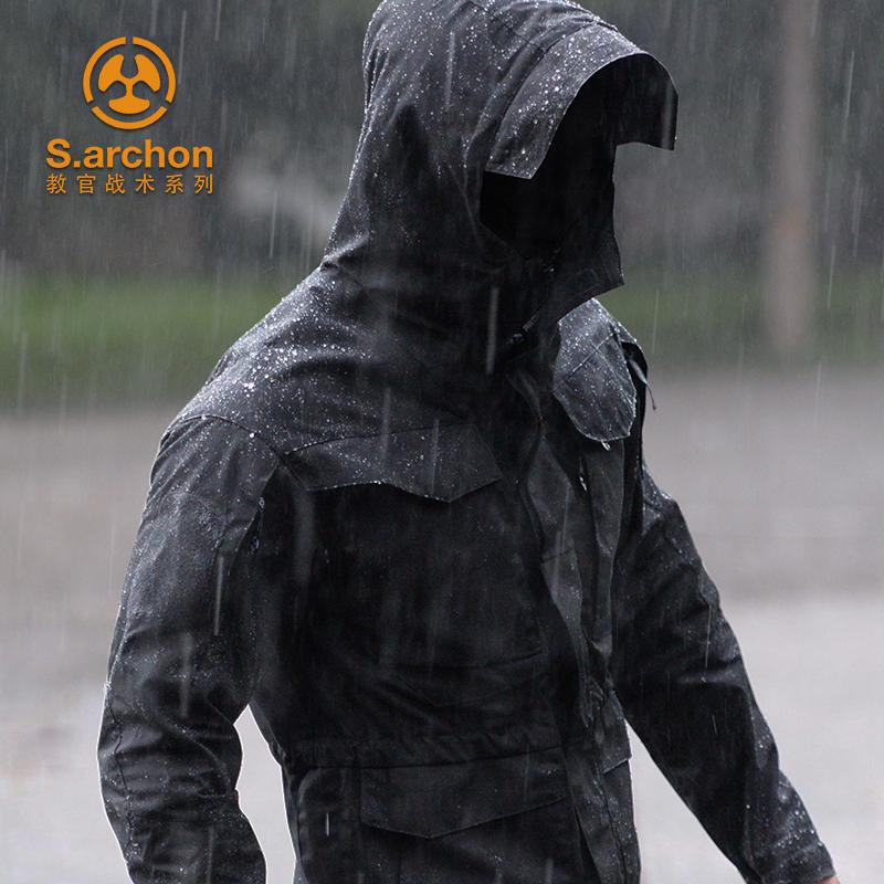 春秋谍影战术外套男M65军版迷彩战地风衣中长款防水户外冲锋衣服