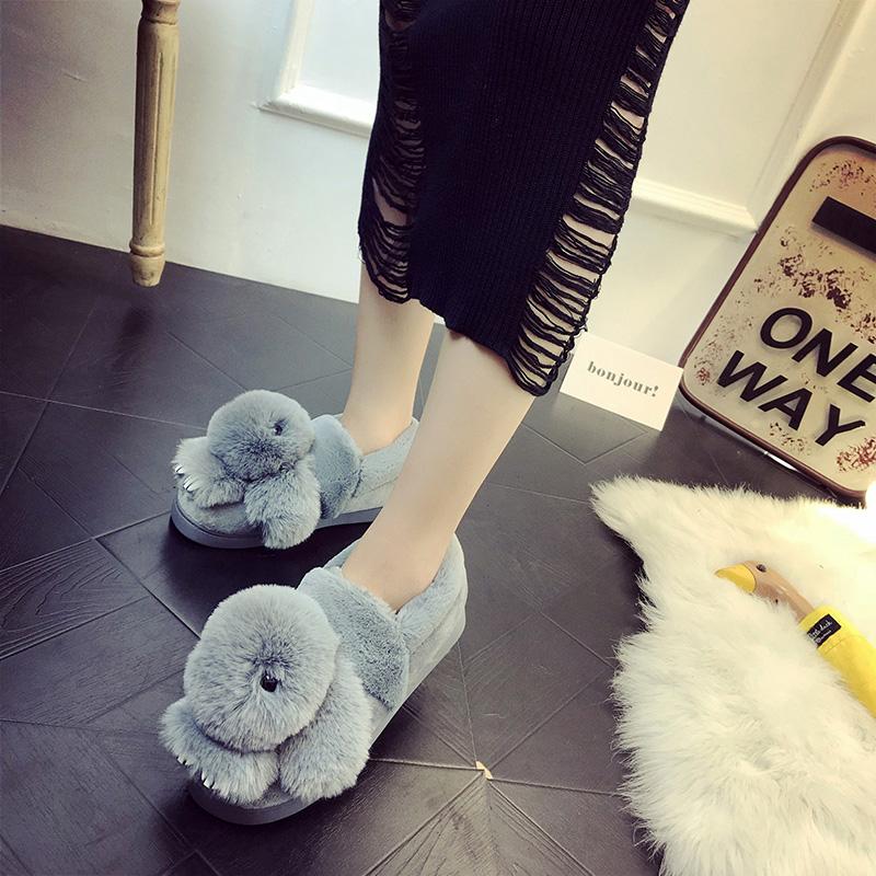 雪地靴女2017秋冬季新款潮百搭棉鞋平底毛毛鞋棉靴短筒短靴女靴子