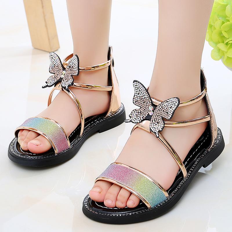 点击查看商品:2020夏季新款女童凉鞋公主鞋仙女风中大童蝴蝶罗马鞋儿童女孩百搭