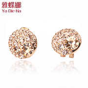 Ya na grade rhinestone earrings fashion Korean Stud Korea full rhinestone earrings 1061