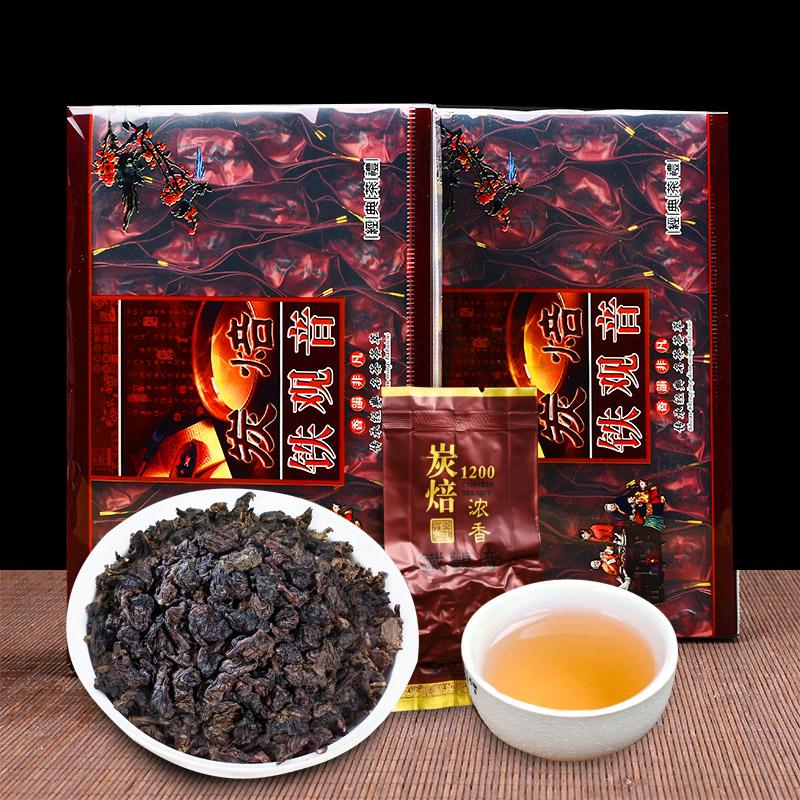 炭焙铁观音浓香型 炭烧口味 熟茶碳焙黑乌龙茶 碳培安溪茶叶500g