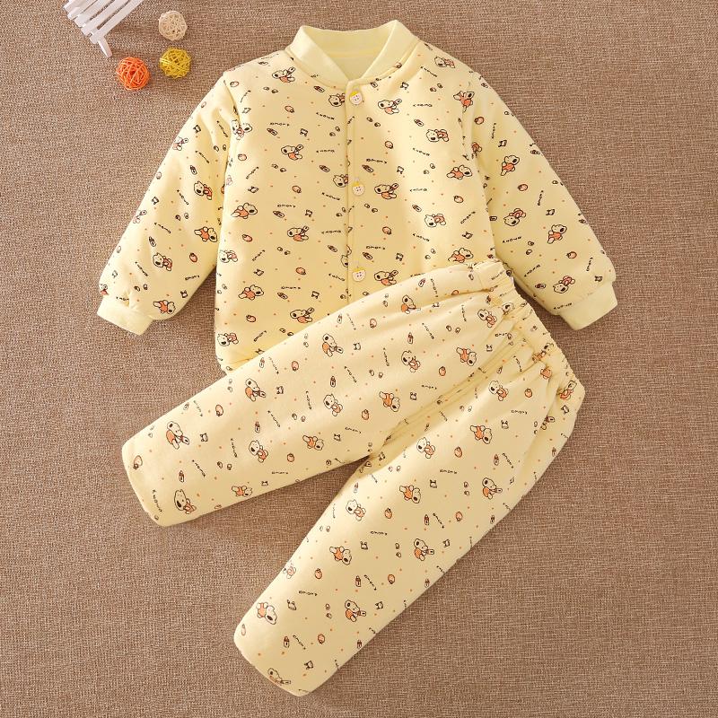 儿童棉衣套装 婴儿幼儿加厚冬装 男童女童棉袄一二三岁宝宝厚内胆