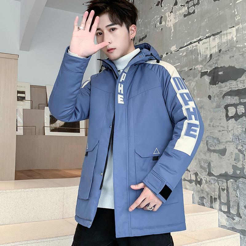 2019冬季新款棉衣男宽松连帽工装棉衣外套日系加厚棉服M991-P110