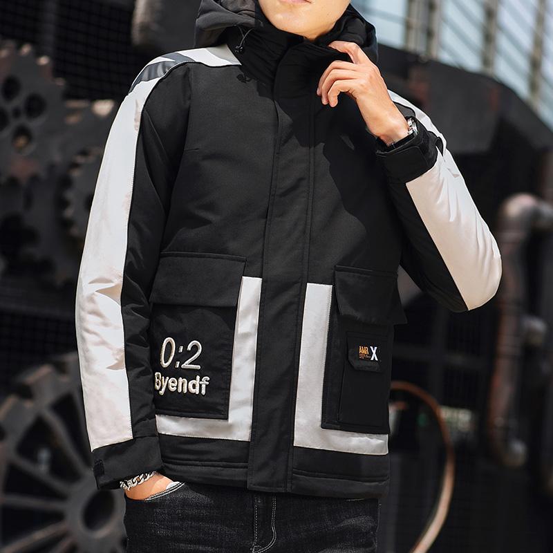 2019冬季新款棉衣男宽松连帽日系工装棉服加厚休闲外套M997-P110
