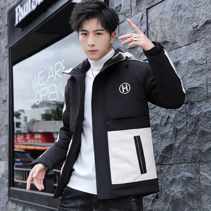 2019冬季新款棉衣男宽松连帽日系工装棉服加厚休闲外套M996-P110