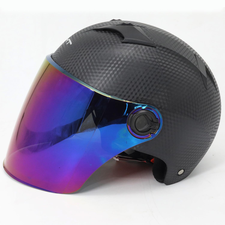 电动摩托车头盔男电瓶车女士安全帽头盔夏季轻便式半覆式可爱防晒