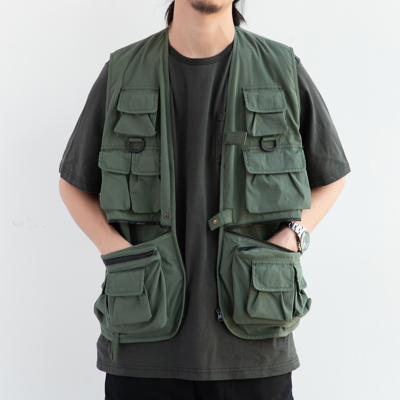 STAPH 19ss 日本面料工装多口袋层搭战术马甲 余文乐